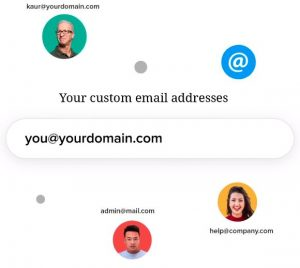 Stay professional with email@yourdomain.com